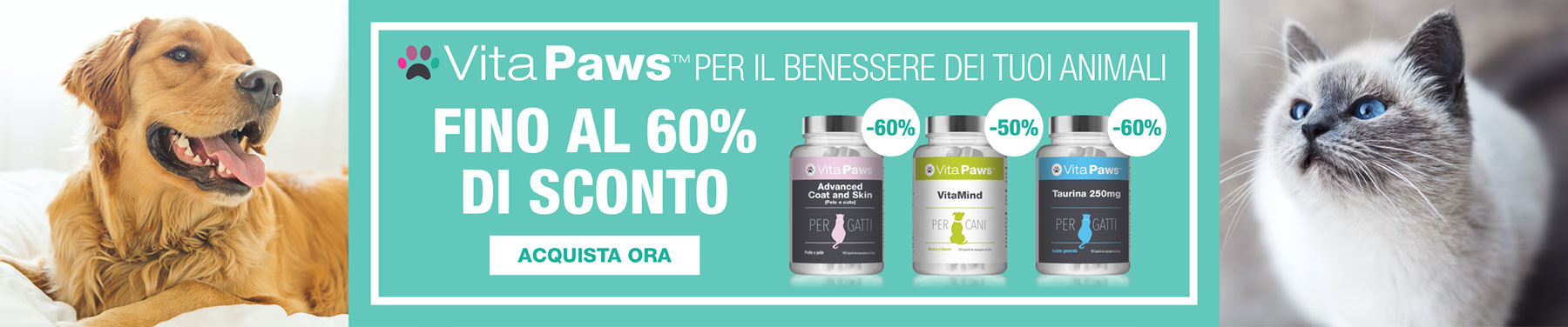 VitaPaws - Per il benessere dei tuoi animali - Fino al 60% di sconto