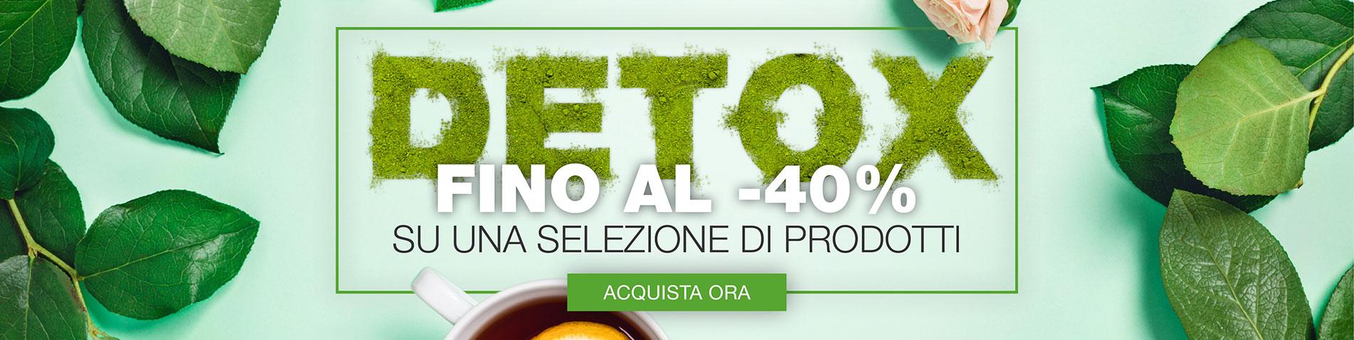 DETOX -FINO AL -40%SU UNA SELEZIONE DI PRODOTTI