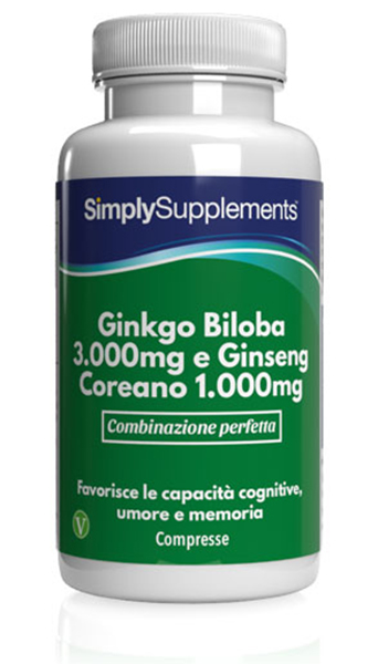 120 Tablet Tub - ginkgo biloba and ginseng