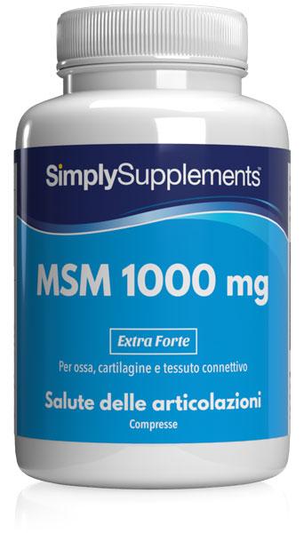 120 Tablet Blister Pack - msm Compresse 1000mg