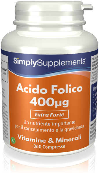 Acido Folico (Vitamina B9) 400 mcg