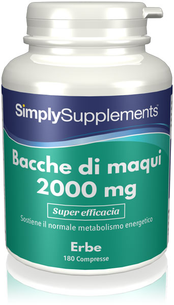 Maqui Berry 2000mg - 180 Tablet Tub