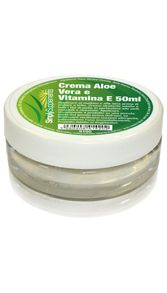 Aloe Vera and Vitamin E Cream - 100ml Pot