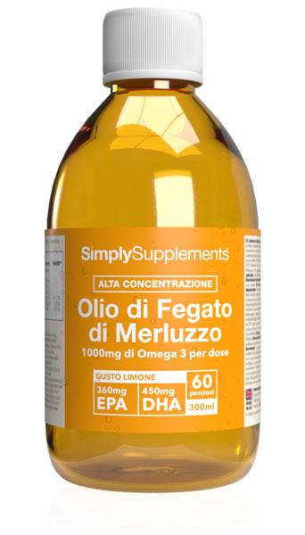 Olio di fegato di merluzzo liquido
