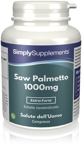 Saw Palmetto (palmetto seghettato) 1000 mg