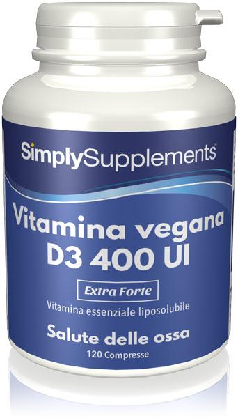 Vitamina vegana D3 400 UI
