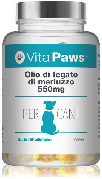 Olio di fegato di merluzzo 550mg cani
